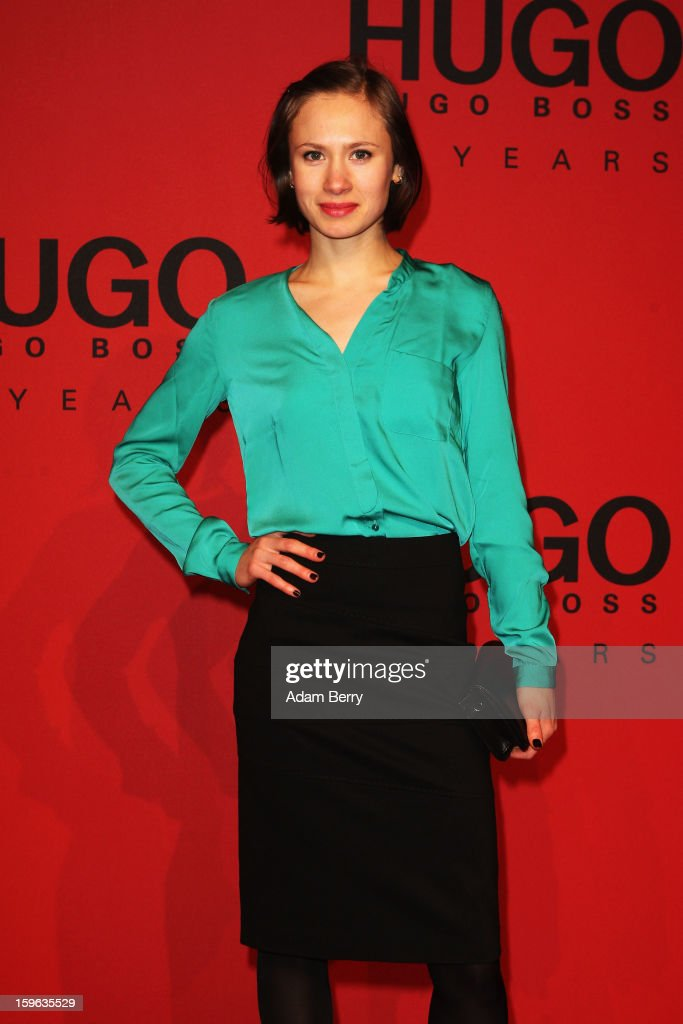 Alina Levshin attends Hugo By Hugo Boss Autumn/Winter 2013/14 fashion show during Mercedes-Benz Fashion Week Berlin at The Brandenburg Gate on January 17, 2013 in Berlin, Germany.