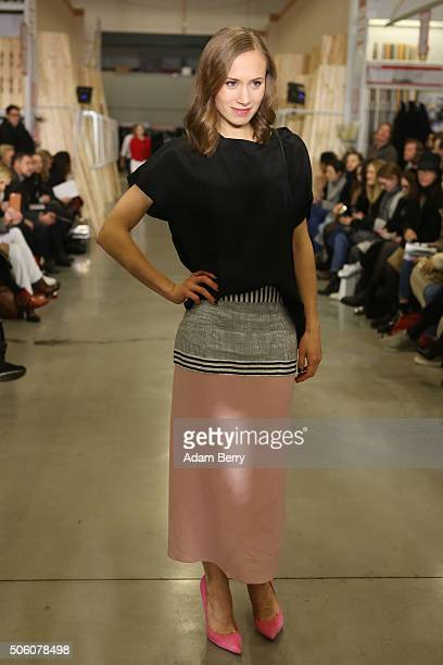 Alina Levshin attends the Perret Schaad show during the MercedesBenz Fashion Week Berlin Autumn/Winter 2016 at on January 21 2016 in Berlin Germany