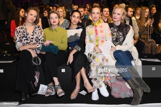 Alina Levshin Jella Haase Gizem Emre Caro Cult and Franziska Knuppe attend the KXXK show during the Berlin Fashion Week Autumn/Winter 2019 at ewerk...