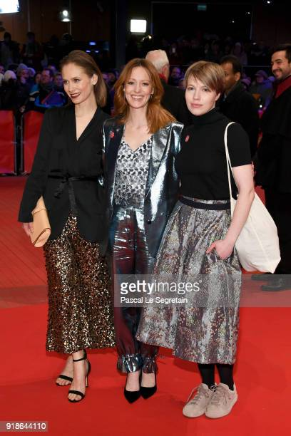 Alina Levshin Lavinia Wilson and Anna Brueggemann attend the Opening Ceremony 'Isle of Dogs' premiere during the 68th Berlinale International Film...