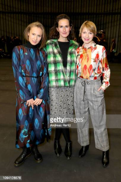 Alina Levshin Saralisa Volm and Anna Brueggemann attend the Odeeh Defile during the Berlin Fashion Week Autumn/Winter 2019 at Haus Der Berliner...