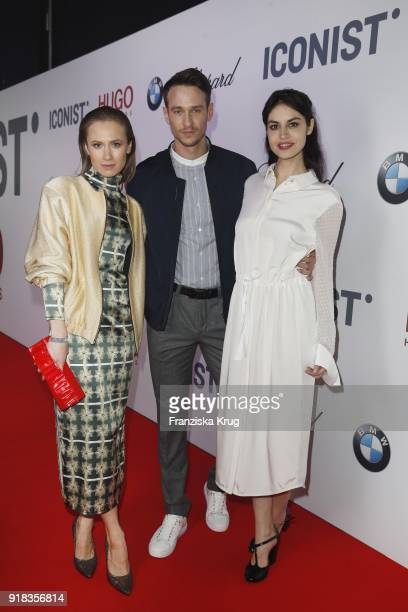 Alina Levshin Vladimir Burlakov and Violetta Schurawlow attend the Young ICONs Award in cooperation with ICONIST at SpindlerKlatt on February 14 2018...