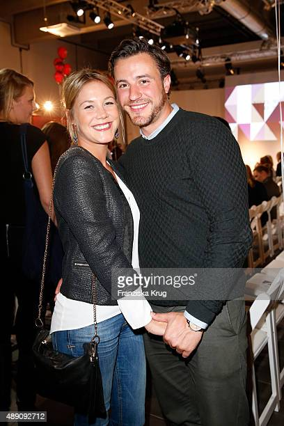 Alina Merkau and guest attend the 'La Boum Fashion Studio' by Soccx in Hoppegarten on September 18 2015 Berlin Germany