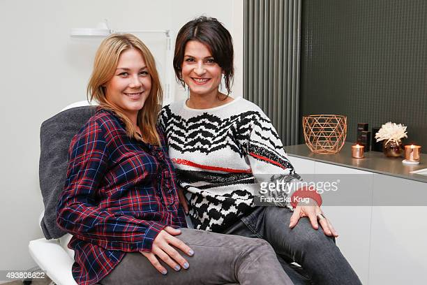 Alina Merkau and Marlene Lufen attend the BABOR Opening Cocktail on October 22 2015 in Berlin Germany