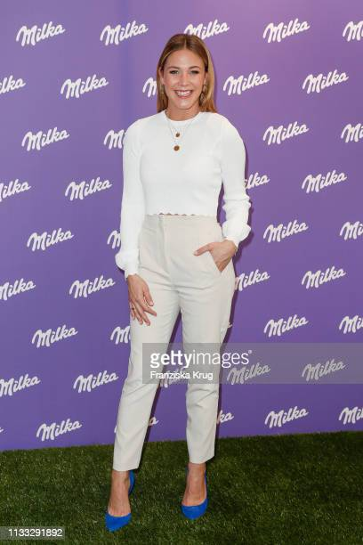 Alina Merkau during the Milka Easter Event with Lieferandode in Duesseldorf on March 28 2019 in Duesseldorf Germany
