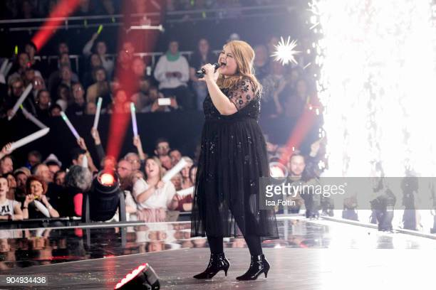 Alina performs at the 'Schlagerchampions Das grosse Fest der Besten' TV Show at Velodrom on January 13 2018 in Berlin Germany