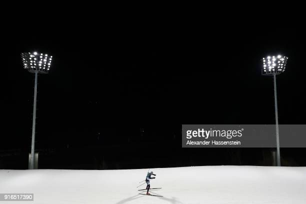 Alina Raikova of Kazakhstan competes during the Women's Biathlon 75km Sprint on day one of the PyeongChang 2018 Winter Olympic Games at Alpensia...