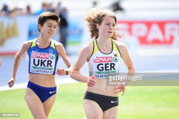 Alina Reh and Yuliya Shmatenko during the European Athletics Team Championships Super League at Grand Stade Lille Metropole on June 25 2017 in Lille...