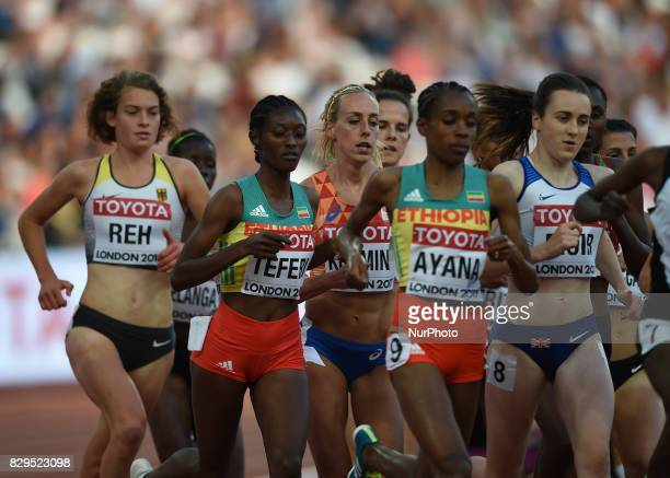 Alina Reh of Germany competes in the womens 5000 metres heats during day seven of the 16th IAAF World Athletics Championships London 2017 at The...