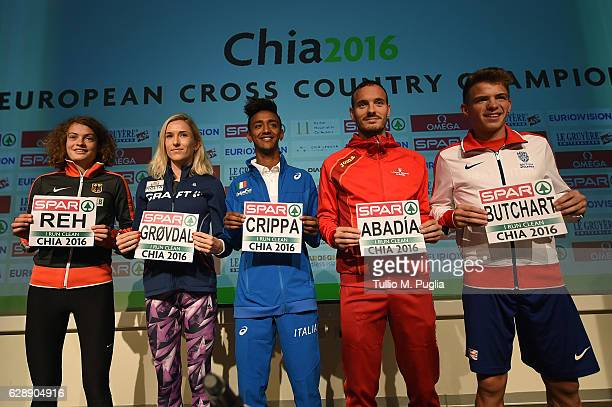 Alina Reh of Germany Karoline Bjerkeli Grovdal of Norway Andrew Bitchart of Great Britain Antonio Abadia of Spain and Yemaneberhan Crippa of Italy...