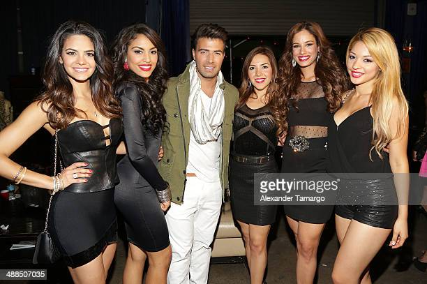 Alina Robert Nabila Tapia Jencarlos Canela Aly Villegas Aleyda Ortiz and Josefine Ochoa are seen backstage at the Jencarlos Canela private concert to...
