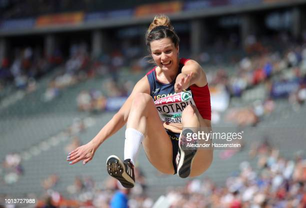 Alina Rotaru of Romania competes in the Women's Long Jump Qualification during day three of the 24th European Athletics Championships at...
