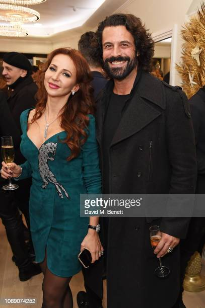 Alina Roxana Moise and Christian Vit attend Jitrois X Alina London Collaboration Launch Party at Fashion Joint on December 6 2018 in London England