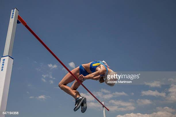 Alina Shukh of Ukraine competes in the Girls Hepthathlon High Jump during European Athletics Youth Championships on July 14 2016 in Tbilisi Georgia