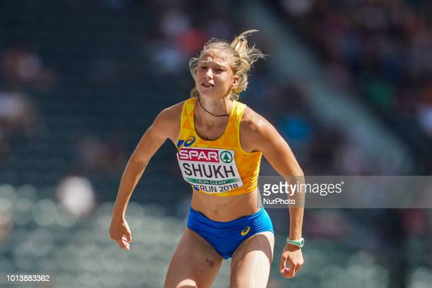Alina Shukh of Ukraine during high jump Decathlon for women at the Olympic Stadium in Berlin at the European Athletics Championship on 8/8/2018