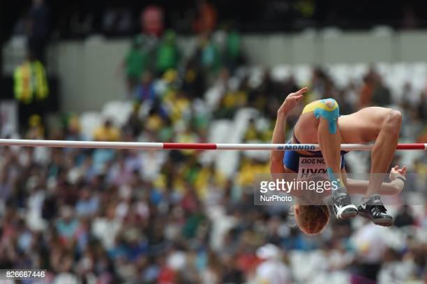 Alina SHUKH Ukraine at Highjump Heptathlon at London Stadium in London on August 5 2017 at the 2017 IAAF World Championships athletics