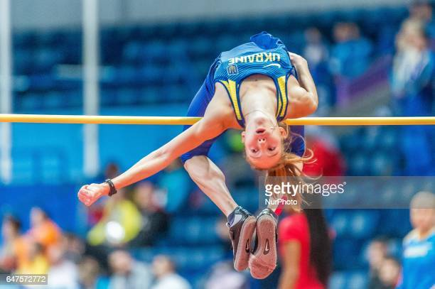 Alina ShukhUkraine at high jump under Pentathlon for women at European athletics indoor championships in Belgrade on March 3 2017