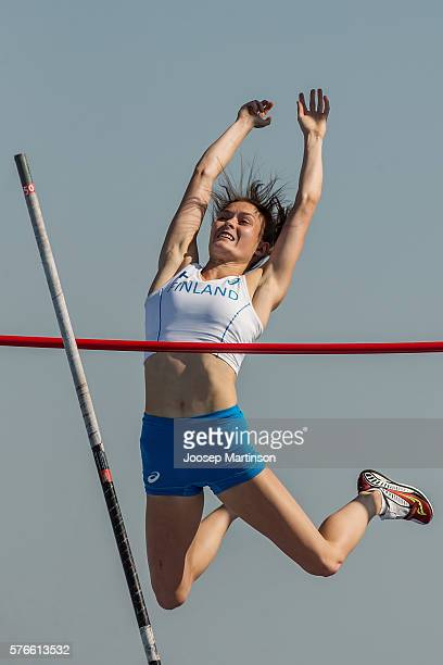 Alina Stromberg of Finland competes the Girls Pole Vault during European Athletics Youth Championships on July 16 2016 in Tbilisi Georgia