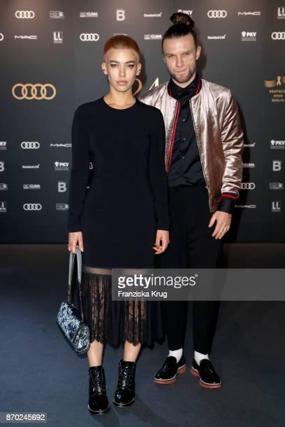 Alina Sueggeler and Andi Weizel attend the 24th Opera Gala at Deutsche Oper Berlin on November 4 2017 in Berlin Germany