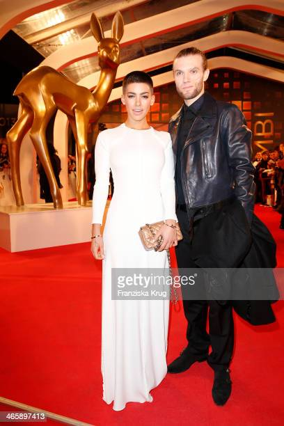 Alina Sueggeler and Andi Weizel attend the Bambi Awards 2013 at Stage Theater on November 14 2013 in Berlin Germany