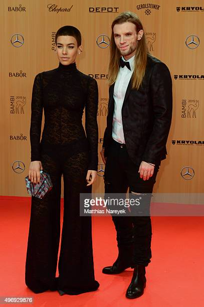 Alina Sueggeler and Andi Weizel attend the Bambi Awards 2015 at Stage Theater on November 12 2015 in Berlin Germany