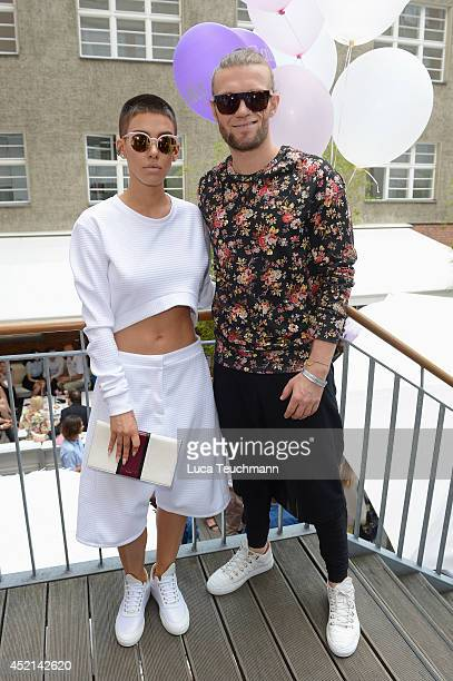 Alina Sueggeler and Andi Weizel attend the Gala Fashion Brunch at Ellington Hotel on July 11 2014 in Berlin Germany