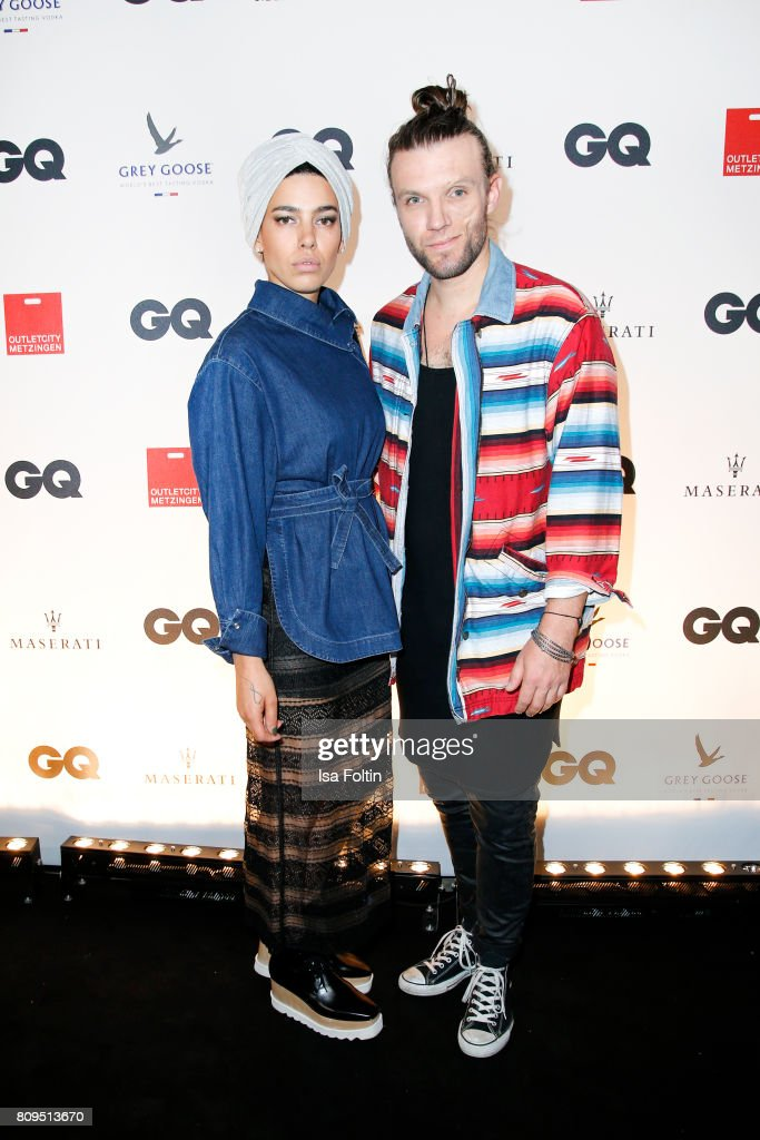 Alina Sueggeler and Andi Weizel (Frida Gold) attend the GQ Mension Style Party 2017 at Austernbank on July 5, 2017 in Berlin, Germany.