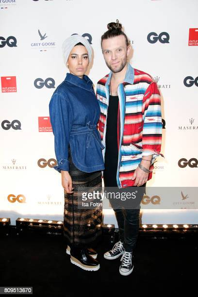 Alina Sueggeler and Andi Weizel attend the GQ Mension Style Party 2017 at Austernbank on July 5 2017 in Berlin Germany
