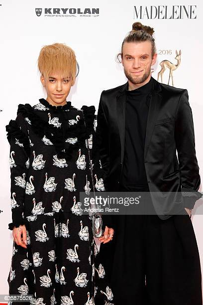 Alina Sueggeler and Andi Weizel of the band 'Frida Gold' arrive at the Bambi Awards 2016 at Stage Theater on November 17 2016 in Berlin Germany
