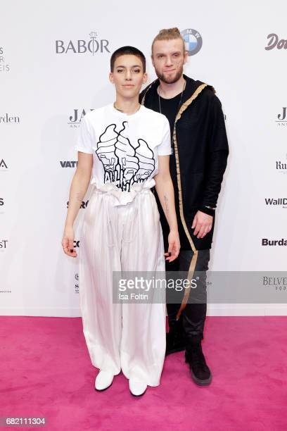 Alina Sueggeler and Andi Weizel of the band 'Frida Gold' attend the Duftstars at Kraftwerk Mitte on May 11 2017 in Berlin Germany