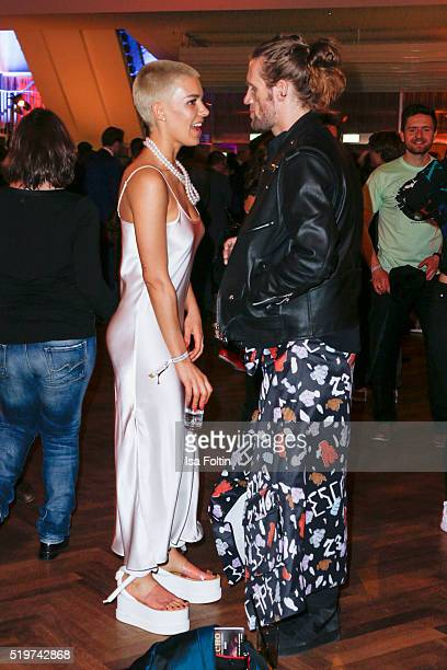 Alina Sueggeler and Andi Weizel of the band 'Frida Gold' attend the Echo Award 2016 after show party on April 07 2016 in Berlin Germany