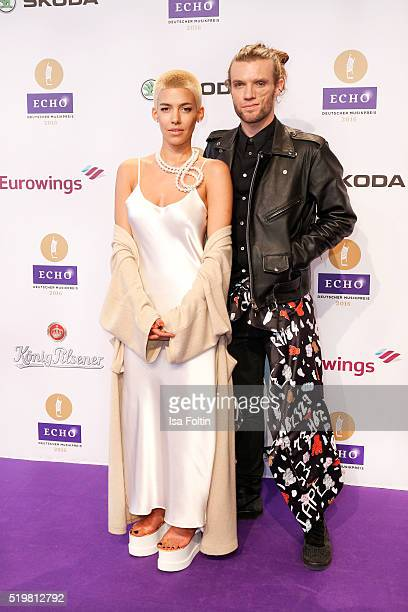 Alina Sueggeler and Andi Weizel of the band 'Frida Gold' attend the Echo Award 2016 on April 07 2016 in Berlin Germany