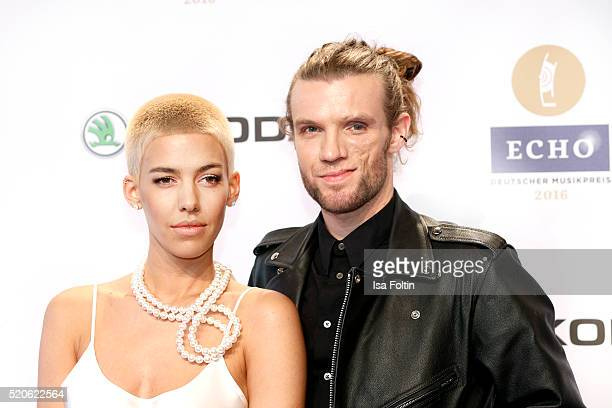 Alina Sueggeler and Andi Weizel of the band Frida Gold attend the Echo Award 2016 on April 07 2016 in Berlin Germany