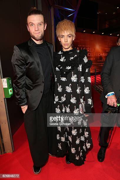 Alina Sueggeler and Andi Weizel of the band 'Frida Gold' during the Bambi Awards 2016 arrivals at Stage Theater on November 17 2016 in Berlin Germany