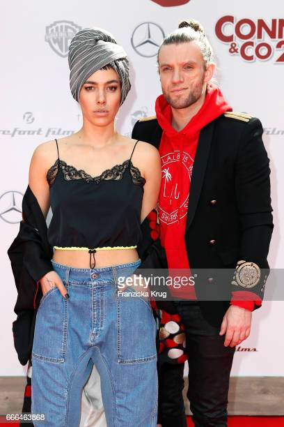 Alina Sueggeler and Andi Weizel of the German band Frida Gold attend the 'Conni Co 2 Das Geheimnis des TRex' premiere on April 9 2017 in Berlin...
