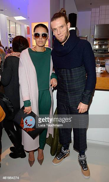 Alina Sueggeler and Andreas Weizel attend the GALA Fashion Brunch at Ellington Hotel on January 22 2015 in Berlin Germany