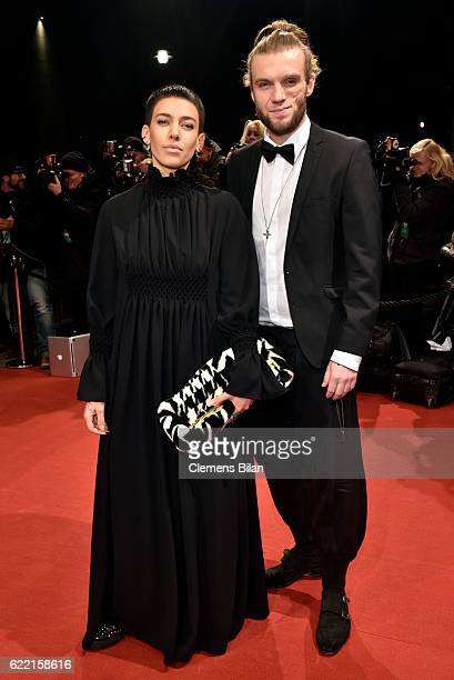 Alina Sueggeler and Andreas Weizel of the German band Frida Gold arrive at the GQ Men of the year Award 2016 at Komische Oper on November 10 2016 in...