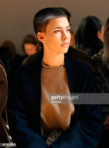 Alina Sueggeler attends the Dorothee Schumacher show during the MercedesBenz Fashion Week Berlin Autumn/Winter 2015/16 at Villa Elisabeth on January...