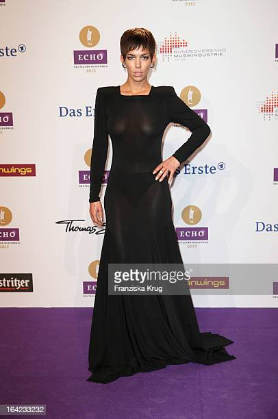 Alina Sueggeler attends the Echo Award 2013 at Palais am Funkturm on March 21 2013 in Berlin Germany