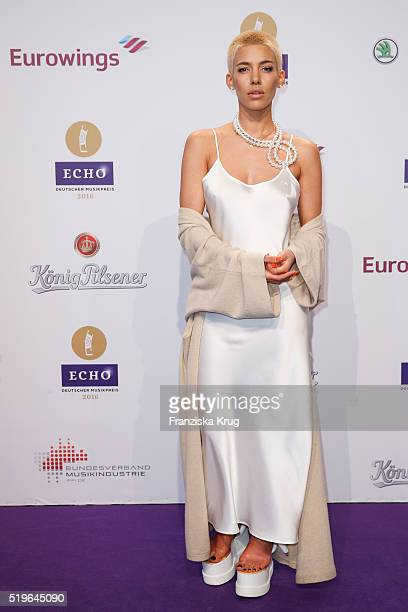 Alina Sueggeler attends the Koenig Pilsener At Echo Award 2016 on April 07 2016 in Berlin Germany