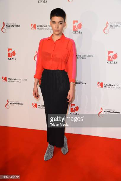 Alina Sueggeler of the band Frida Gold attends the 9th GEMA Musikautorenpreis at Ritz Carlton Hotel on March 30 2017 in Berlin Germany