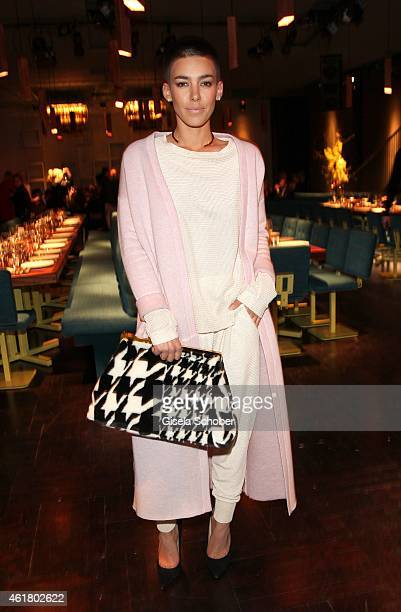 Alina Sueggeler singer Frida Gold attends the LaLa Berlin Dinner with Cinderella during the MercedesBenz Fashion Week Berlin Autumn/Winter 2015/16 at...