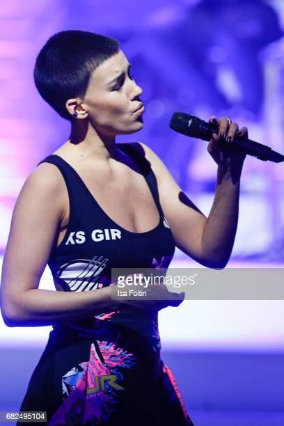 Alina Sueggeler singer of the band 'Frida gold' performs during the GreenTec Awards Show at ewerk on May 12 2017 in Berlin Germany