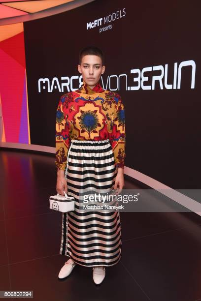 Alina Sueggler is seen during the Marcel Von Berlin 'Genesis' collection presentation on July 3 2017 in Berlin Germany