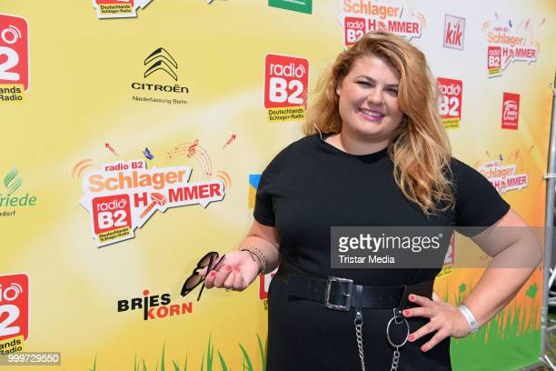 Alina Wichmann during the Radio B2 SchlagerHammer OpenAirFestival at Hoppegarten on July 15 2018 in Berlin Germany