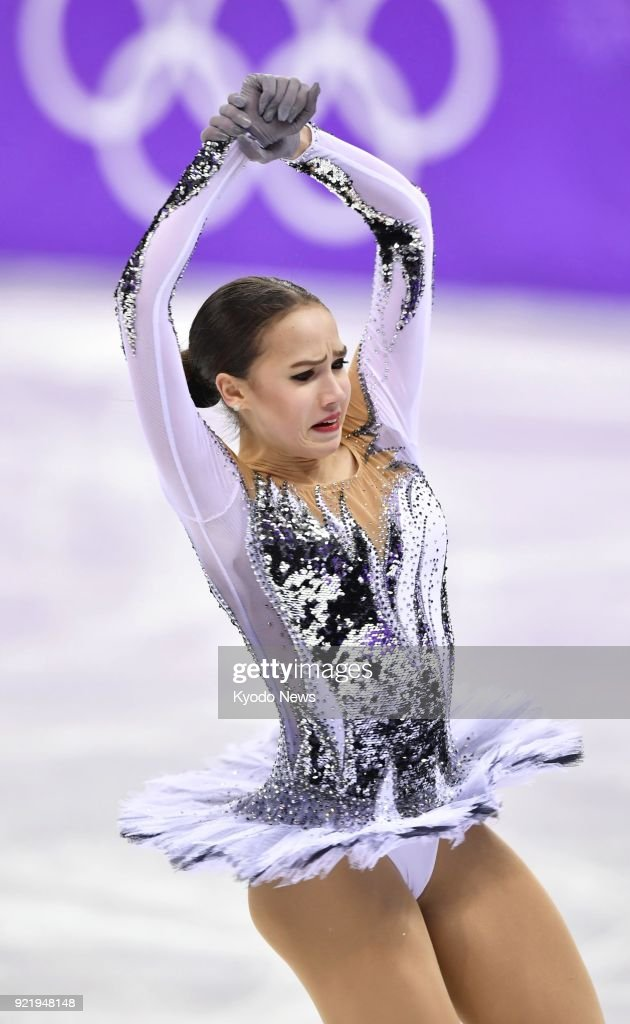 Alina Zagitova, an Olympic Athlete from Russia, performs during the women's figure skating short program at the Pyeongchang Winter Olympics in Gangneung, South Korea, on Feb. 21, 2018. ==Kyodo