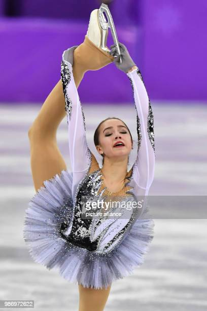 Alina Zagitova from the team Olympic Athletes from Russia in action during the women's singles short program event of the 2018 Winter Olympics in the...