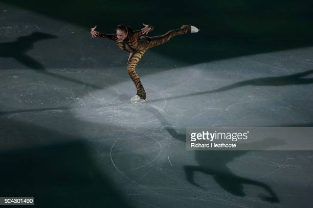 Alina Zagitova of Olympic Atheltes of Russia performs during the Figure Skating Gala Exhibition on day 16 of the PyeongChang 2018 Winter Olympics at...