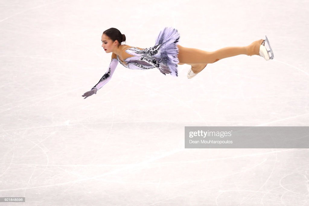 Figure skating winter olympics day 12 alina zagitova of olympic athlete from russia competes during the ladies single skating short program on voltagebd Gallery