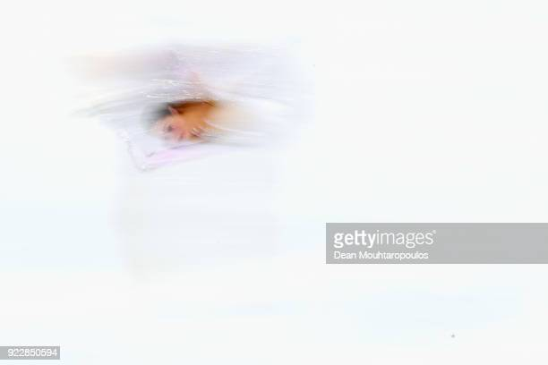 Alina Zagitova of Olympic Athlete from Russia competes during the Ladies Single Skating Short Program on day twelve of the PyeongChang 2018 Winter...